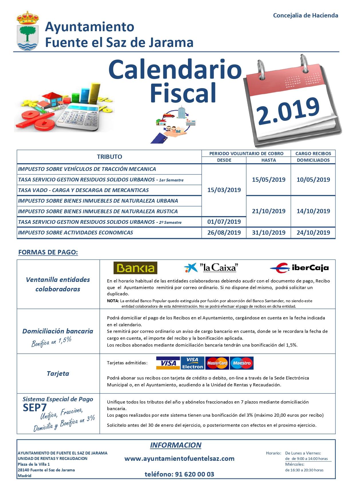 Calendario Fiscal.Calendario Fiscal
