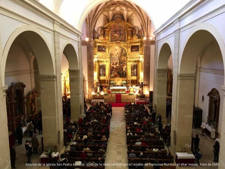Interior Iglesia San Pedro Apstol